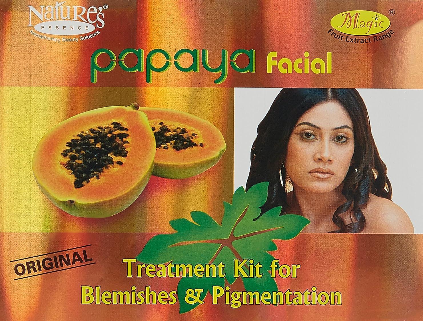 排泄物ハンカチ線自然のエッセンスパパイヤフェイシャルキットシミ·色素沈着1キットNature's Essence Papaya Facial Kit Blemishes & Pigmentation 1 Kit