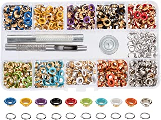Grommet Kit - 400-Set 3/16 Inch Multicolor Metal Eyelet Grommets and Washers with Setting Tools