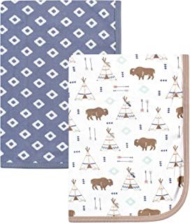 Hudson Baby Unisex Baby Cotton Blankets, Teepee 2-Pack, One Size