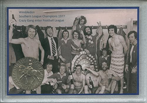 Wimbledon (AFC) Vintage Plough Lane The Crazy Gang Dons Southern League Champions Enter Football League Retro Coin Present Display Gift Set 1977