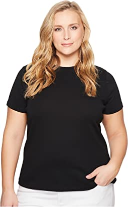 LAUREN Ralph Lauren Plus Size Cotton Short Sleeve T-Shirt