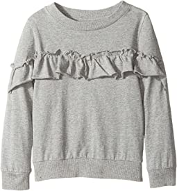 Heather Pullover Ruffle Sweatshirt (Toddler/Little Kids)