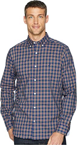 Long Sleeve Wear to Work Classic Plaid Woven Shirt