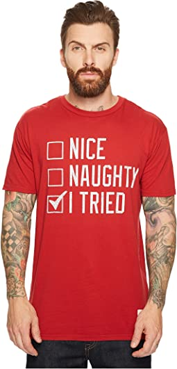 The Original Retro Brand - Naughty Nice I Tried Vintage Cotton T-Shirt