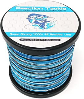 Reaction Tackle High Performance Braided Fishing Line (Various Colors)