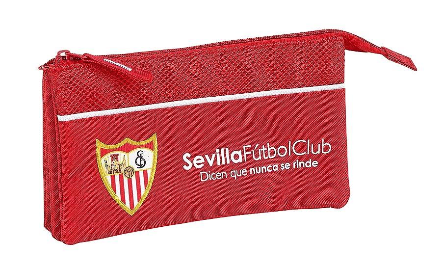 F.C. Sevilla 2018 Pencil Cases, 22 cm, Red (Rojo)