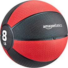 AmazonBasics Medicine Ball - 8 Pounds, Red and Black