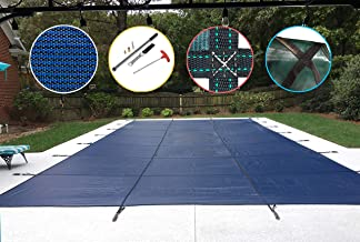 Water Warden Pool Safety Cover, 16 by 32', Blue Mesh
