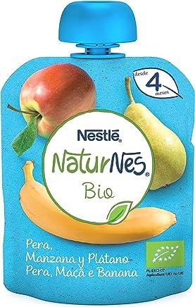Nestlé Naturnes Bio Bolsita de puré de Pera, Manzana y Plátano - Bolsita de Puré