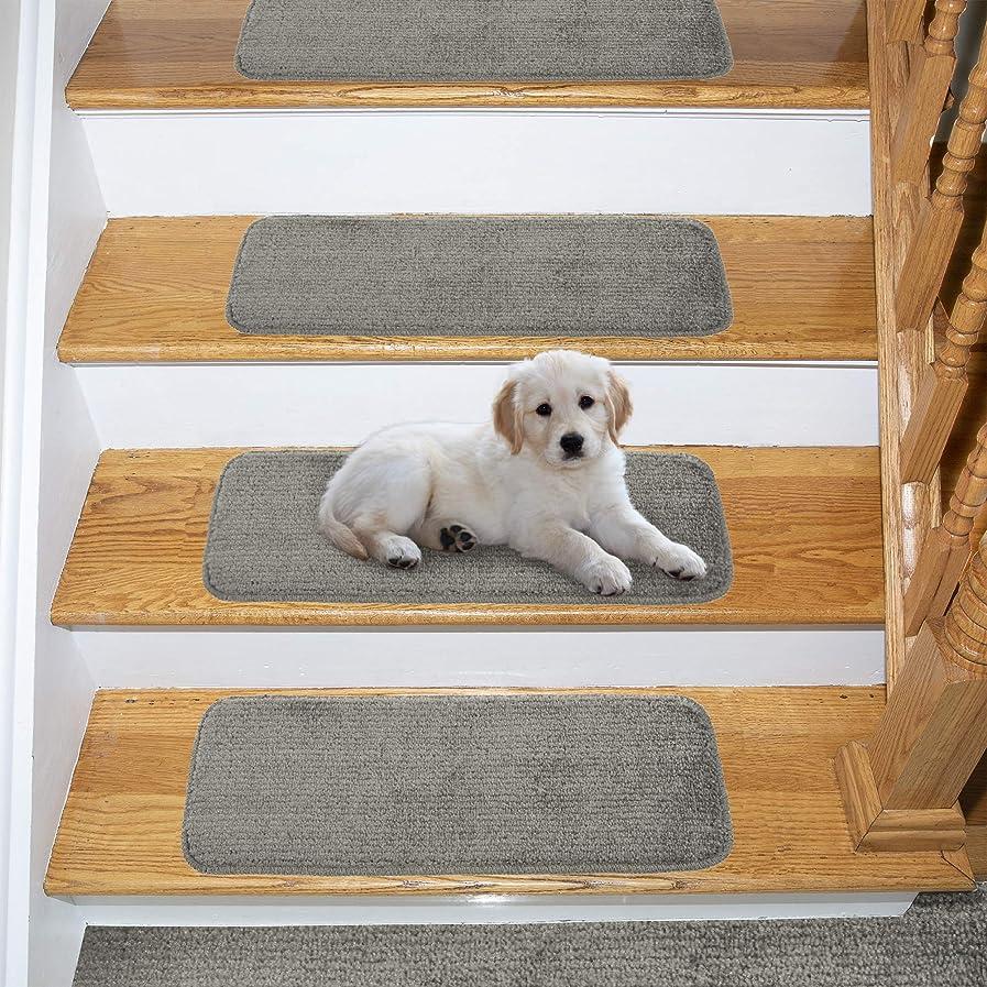Ottomanson Comfort Collection Stair Tread, 14 Pack, Grey jrpoginuti24