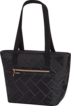 Thermos Raya 9 Can Lunch Tote,  Black Chevron Quilt