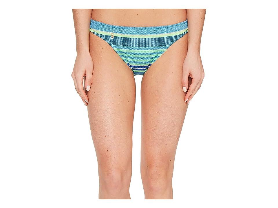 Polo Ralph Lauren Playa Stripe Taylor Hipster Bottom (Turquoise) Women