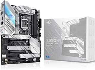 ROG Strix Z590-A Gaming WiFi 6 LGA 1200(Intel® 11th/10thGen) ATX White Scheme Gaming Motherboard (PCIe 4.0, 14+2 Power Sta...