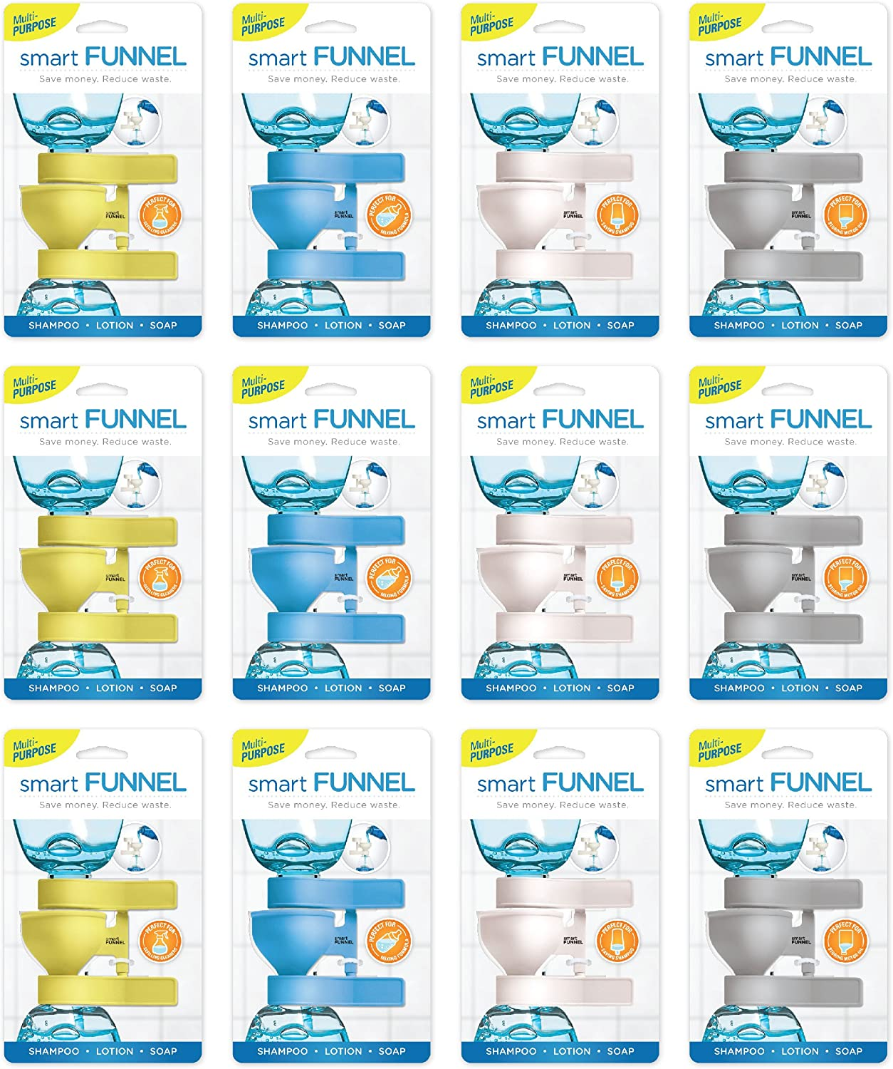 Smart Funnel (12pk - Three of Each color)