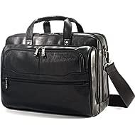 Vachetta Leather 2 Pocket Business Case Black