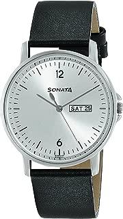 Sonata Essentials Analog Silver Dial Men's Watch-77083SL02
