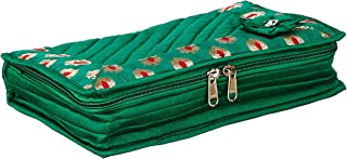 Amazon Brand - Solimo Quilted Jewellery Kit, Green