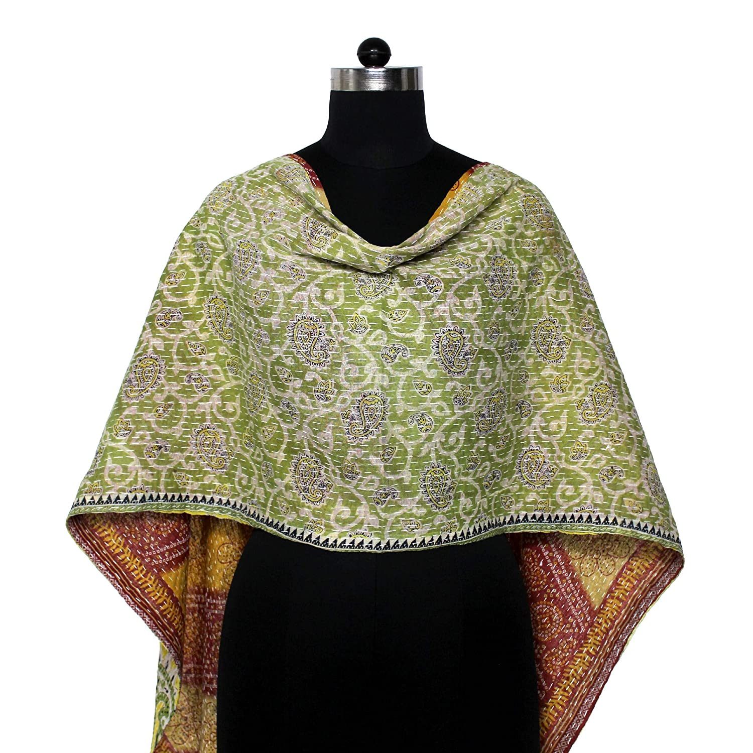 Cotton sold out Kantha Scarf Vintage Neck Quilted Dupatta Stole Wrap New product!! Hand