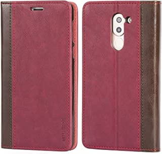 Huawei Honor 6X Case,Mulbess BookStyle Leather Wallet Case Cover with Kick Stand for Huawei Honor 6X,Wine Red