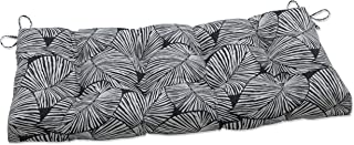 Pillow Perfect Indoor Talia Noir Outdoor Tufted Bench Swing Cushion, 44 X 18 X 5, Black