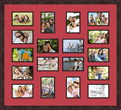 Art to Frames Double-Multimat-415-693//89-FRBW26061 Collage Frame Photo Mat Double Mat with 16-3.5x5 Openings and Espresso Frame