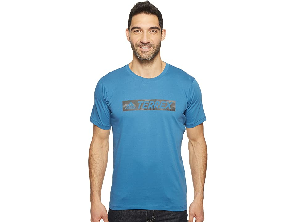 adidas Outdoor Logo Bar Tee (Core Blue) Men