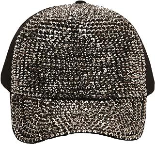 Women's Fashion Bling Sparkle Rhinestone Trucker Baseball Hat