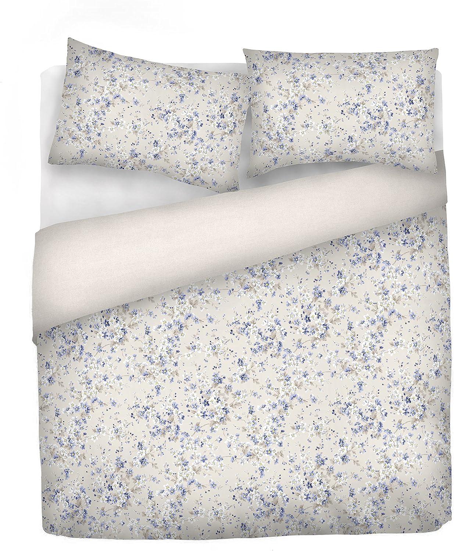 Italian Bed Linen cpem06fiorepiccolo2pst Bettbezug, 100% Baumwolle, Mehrfarbig, Doppelbett, 250 x 200 x 4 cm B06XKG6Y6Q