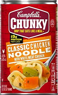 Campbell's Chunky Classic Chicken Noodle Soup, 18.6 oz. Can (Pack of 12)