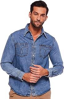 Calvin Klein Men's J30J311937-Denim Shirts
