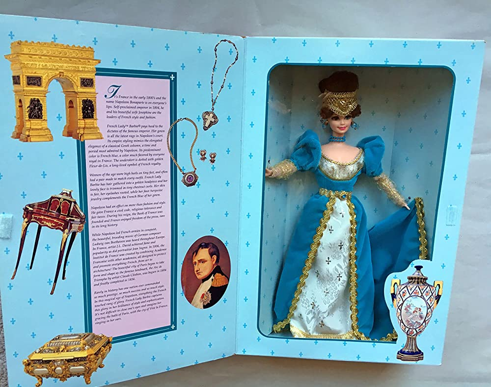 Mattel barbie, the great eras collection - french lady barbie 16707
