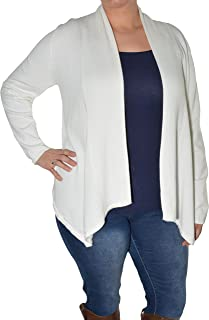 Fly Away Open Cardigan (Ivory, X-Large)