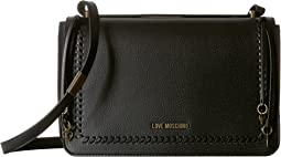 Crossbody Bag w/ Gold Heart Charms