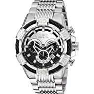 Invicta Men's Bolt Quartz Watch with Stainless-Steel Strap, Silver, 30 (Model: 25540)