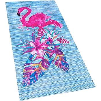 "30/"" x 60/"" Flamingos /& Lake Beach Velour Beach Towel"