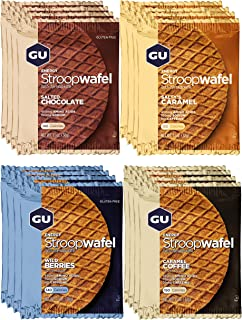 GU Energy Stroopwafel Sports Nutrition Waffle, 16-Count (Assorted Flavors)