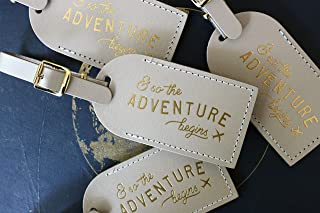 Luggage Tags Wedding Favors - And So The Adventure Begins
