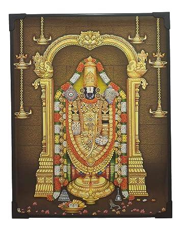Lord Balaji Photo Beading Frame 29 Cm X 22 5 Cm X 1 Cm Lord God Goddess