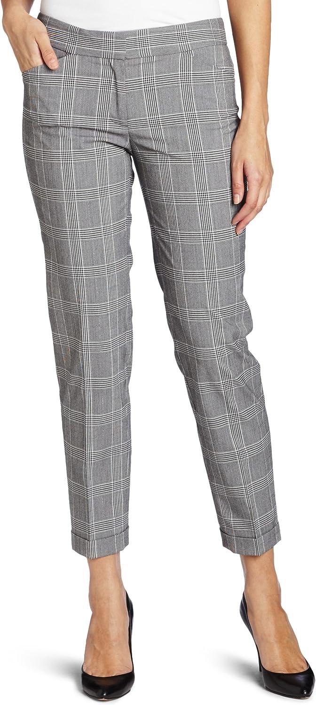 Anne Klein Women's Glen Plaid Slim Pant