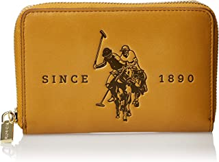 US Polo Womens Medium Zip Around Wallet, Yellow - BIUFS0596WVP300