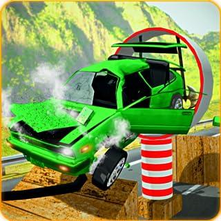 Car Crash Stunts - Beam Drive and Derby Megaramp Ultimate Hero Stunts & speed Bump Performing Derby Accidents Car Simulati...