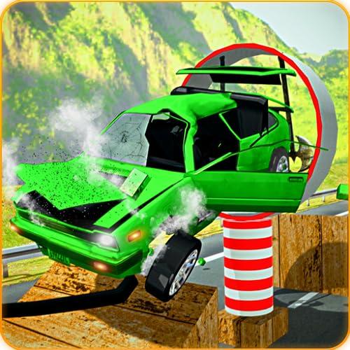 Car Crash Stunts - Beam Drive und Derby Megaramp Ultimate Hero Stunts & Speed Bump Durchführung von Derby-Unfällen Autosimulation Free Game in den Weihnachtsferien 2020