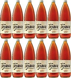 Tejava Original Black Tea, 12Count, 1 Liter Glass Bottles, Award-Winning Tea, Unsweetened, Non-Gmo-Verified, From Rainfore...