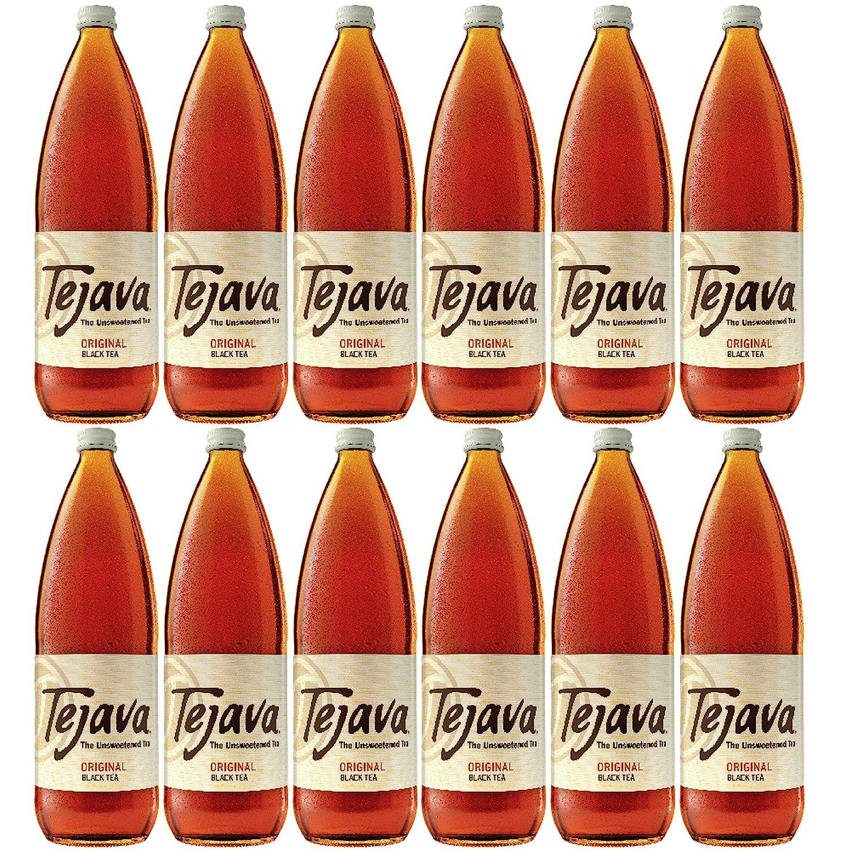 Tejava Original Black Tea 12Count 1 Award Glass Liter 25% Albuquerque Mall OFF Bottles