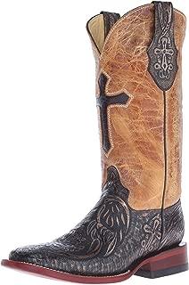 Ferrini Women's Embossed Cross Western Boot