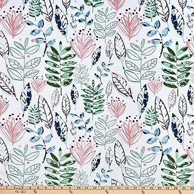 Shannon Fabrics Studio Digital Minky Cuddle Modern Leaf Blossom Fabric Fabric by the Yard