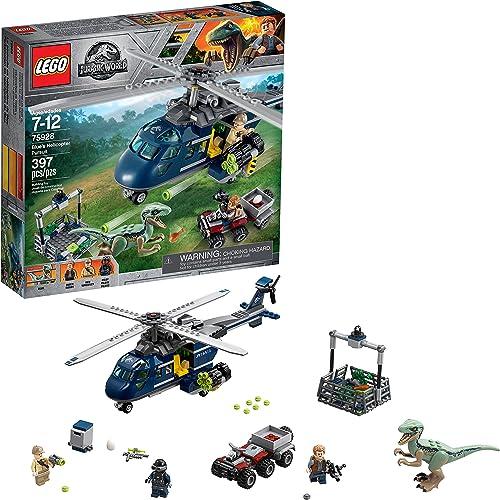 hasta un 60% de descuento LEGO LEGO LEGO Jurassic World Persecución en helicóptero de azul 75928 (397 piezas)  en stock
