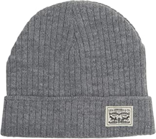 Men's Waffle Beanie with 2X1 Rib Cuff and Fleece Lining