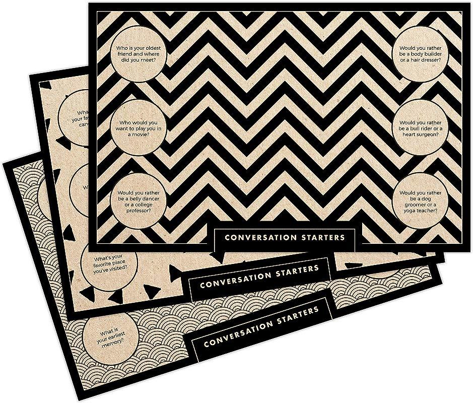 Paper Placemats 48 Count 11 X 17 Kraft Conversation Starters