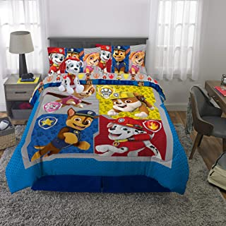 Franco Kids Bedding Super Soft Comforter with Sheets and Plush Cuddle Pillow Set, 6 Piece Full Size, Paw Patrol